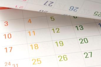 ターンオーバーの周期のイメージをカレンダーで表す図