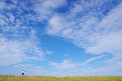 晴天の青空