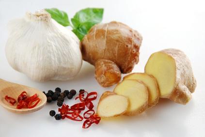 体を温める食べ物(生姜など)