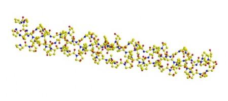 コラーゲンのらせん構造の模式図