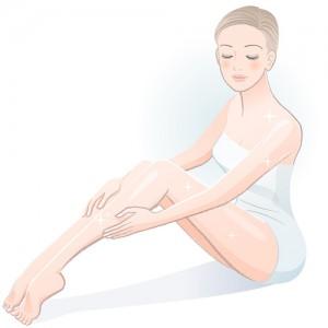 夏の乾燥肌予防を考える女性