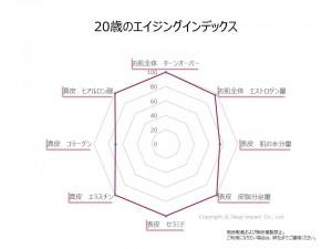 20歳のエイジングインデックスのグラフ