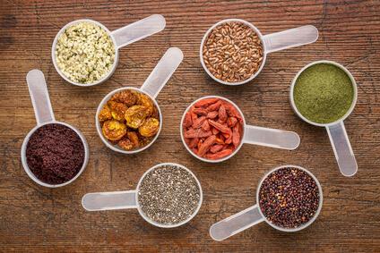肌質を決める要素である食べ物の写真