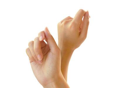 手湿疹のないキレイな手