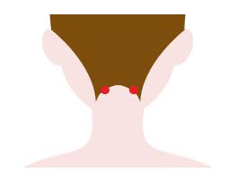 顔のむくみ解消に効果的な天柱