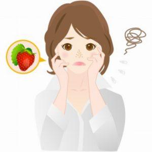 角質肥厚が原因のいちご鼻に悩む女性