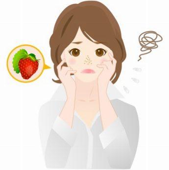 皮脂腺に関する肌トラブルに悩む女性