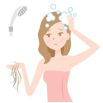 洗髪のし過ぎで髪にダメージが与えられたイメージ