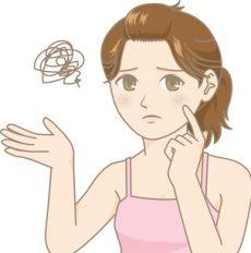 脂性肌に悩む女性