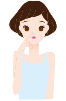 角栓の除去で鼻の角栓が目立った女性