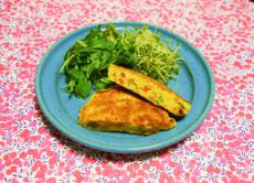 5月におすすめ美肌レシピの5種の野菜お食事パンケーキ