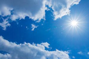 コラーゲンを減らす紫外線のイメージ