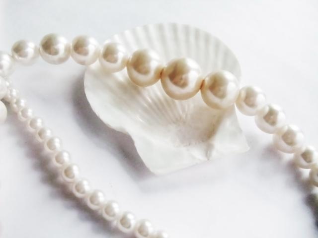 光輝性顔料の光沢感のイメージ 真珠