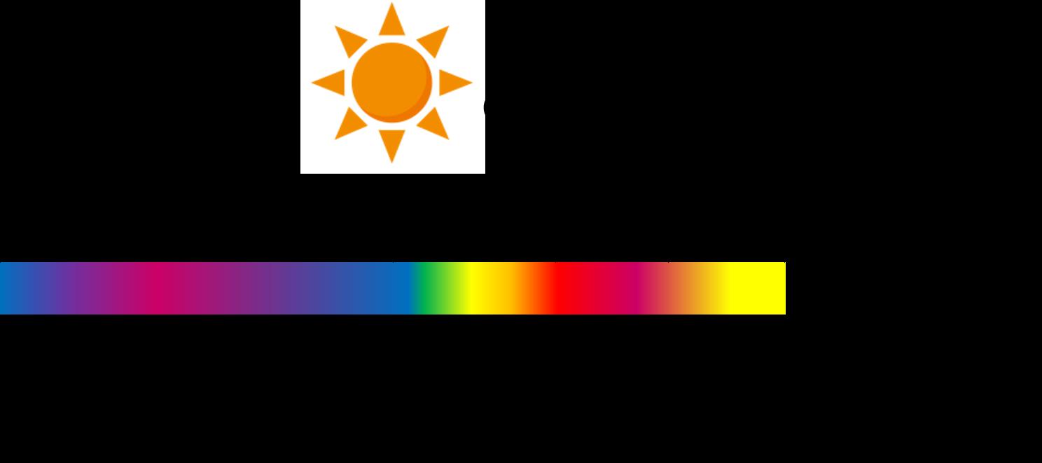 太陽光線の図