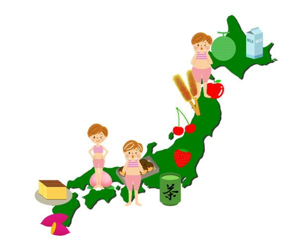 全国のやせ型、肥満型、標準型の地域