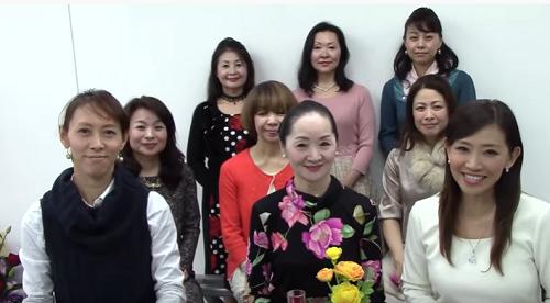 美肌のコツを学ぶ動画クイズを楽しむ女性たち
